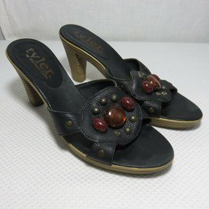 Richard Tyler 7 Black Dreamsicle Leather Shoes